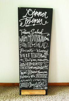 chalkboard menu » lindsay letters