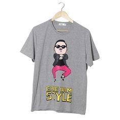 2012 Psy GANGNAM STYLE - short sleeve T-shirt (Gray_XL)   $27.23
