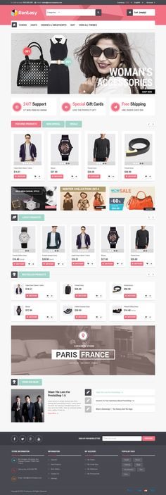 Multipurpose prestashop theme 2015. This theme has 5 prebuilt layouts for selling fashion, car, bags, accessories store. #clothes #shop #eCommerce
