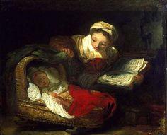 A boa mãe, 1763 Jean-Honoré Fragonard (França, 1732-- 1806) óleo sobre tela, 47 x 56 cm The Fine Arts Museum, San Francisco