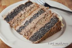 Tort makowy Chocolate and poppy seed cake.translation is a little rough and some measures mysterious. Polish Desserts, Polish Recipes, Sweet Recipes, Cake Recipes, Dessert Recipes, Baking Cupcakes, Cupcake Cakes, Poland Food, First Communion Cakes