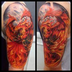 Phoenix Tattoo Motive #Tattoo, #Tattooed, #Tattoos