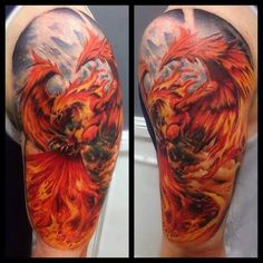 Phoenix Tattoo Motive   #Tattoo, #Tattooed, #Tattoos