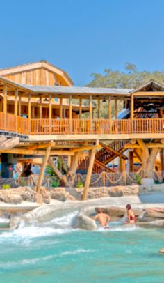 The Treehaus Resort comes with its own lazy river and waterpark - New Braunfels, Texas