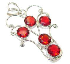 $31.25 Precious Red Quartz Sterling Silver Pendant at www.SilverRushStyle.com #pendant #handmade #jewelry #silver #quartz