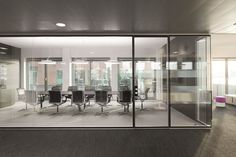 Glass office partition RF Corridor Wall by BENE