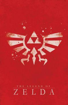 The Legend of Zelda Poster by Dylan West  #gaming #nintendo #zelda #fanart