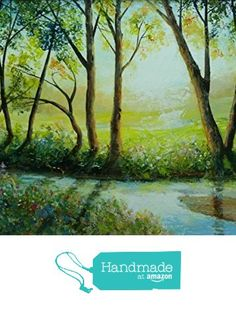 Framed original painting: 'The stream' - Acrylic, 35cmx25cm, painting of a shallow brook, trickling waterway, trees, brilliant sunlight, shadows. from Christopher. A. Smith - Original Paintings https://www.amazon.co.uk/dp/B01LXGTZUM/ref=hnd_sw_r_pi_dp_RdSkzbZ5QHYVC #handmadeatamazon