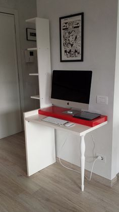 IKEA Hack Wall Mounted Computer Desk. | Office / Desk | Pinterest | Wall  Mounted Computer Desk, Ikea Hack And Wall Mount