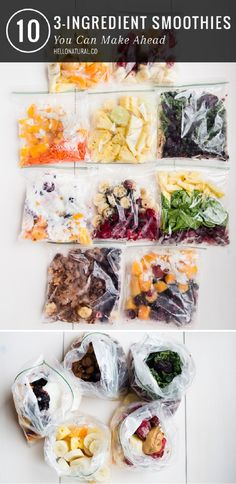Put together smoothie packs for easy on-the-go breakfasts - 16 DIY Kitchen Projects to Organize Your Healthy Foods