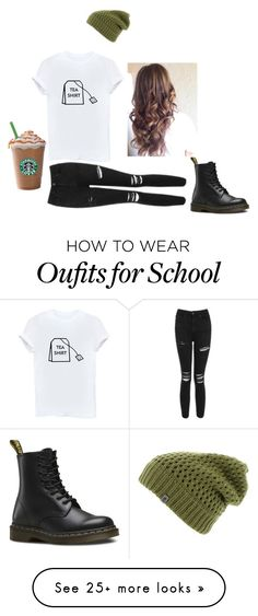 """""""Untitled #668"""" by alaiza124 on Polyvore featuring The North Face, Dr. Martens and Topshop"""