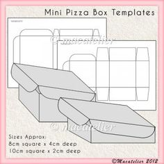 free tea bag tag template | ... CU Templates - :: BROWSE ALL CU Templates :: Mini Pizza Box Templates