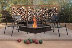 bocce court + patio + fire pit in Phoenix