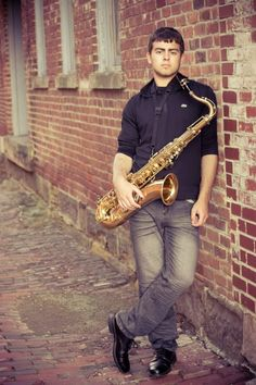 Image result for boys senior pictures saxophone