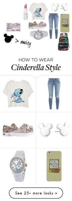 """Disney Marathon!"" by maiandshawn on Polyvore featuring Disney, Frame Denim, Vans and HoneyBee Gardens"