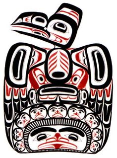 Children of the Raven (Haida) This would be a cool tattoo...