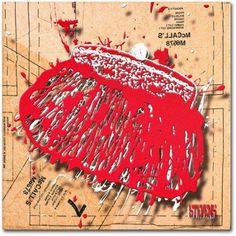 Trademark Fine Art Snap Purse Red Canvas Art by Roderick Stevens, Size: 14 x 14, Multicolor