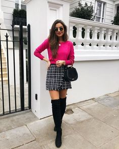Casual Fall Outfits That Will Make You Look Cool – Fashion, Home decorating Rosa Pullover Outfit, Winter Pullover Outfits, Winter Mode Outfits, Winter Fashion Outfits, Winter Outfits, Autumn Fashion, Fashion Ideas, Fashion Black, Fashion Fashion
