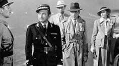 Renault, Laszlo, Rick e Ilsa en el aeropuerto de Casablanca (1942)