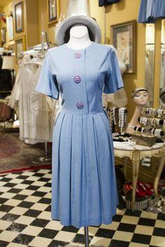 Cabaret Vintage - 1960's Blue Vintage Dress, $145.00 (http://www.cabaretvintage.com/vintage-dresses/1960s-blue-vintage-dress/) #vintagedress  #vintage #dressvintage #shopping #vintagestore #vintagefashion #ilovevintage #vintagelove #vintagegirl #vintageshopping #vintageclothing #vintagefinds #vintagelover #vintagelook #followme #dressoftheday #ootd  #instastyle #torontovintage #toronto #queenwest #cabaretvintage