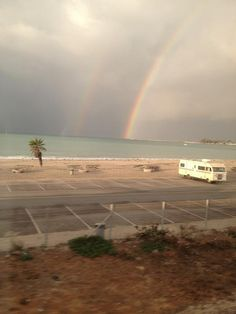 @LindaySmith24 captures a photo of a double rainbow from her seat on the train. Thanks for sharing this rare sight!