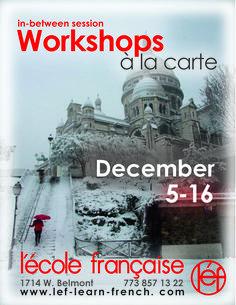 December 2016 Language & Cultural Workshops