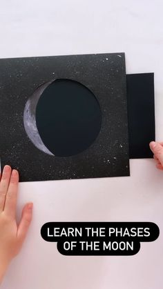 cintaandco on Instagram: We LOVE this phases of the moon activity!! #kidsactivities #kidsactivitiesathome #kidscrafts101 #spaceactivities #learnathome #homeschool…