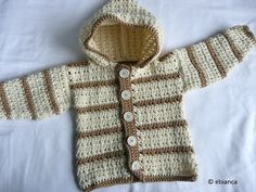 63 ideas crochet sweater pattern free hoodie baby cardigan for 2019 Baby Cardigan, Baby Pullover, Sweater Hoodie, Blue Hoodie, Crochet Baby Sweaters, Crochet Baby Clothes, Baby Knitting, Crochet Toddler Sweater, Crochet Gratis