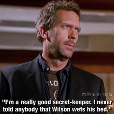"""Oh House! S2:Ep23 """"Who's Your Daddy?"""" House Md Funny, Dr House Quotes, It's Never Lupus, Everybody Lies, Robert Sean Leonard, Gregory House, Red Band Society, Secret Keeper, Hugh Laurie"""