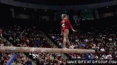 Samantha Peszek (standing full+back pike on beam)