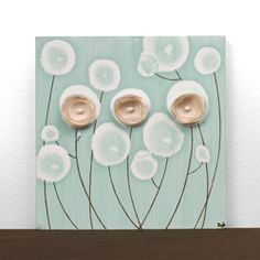 Sea Glass Poppies Painting