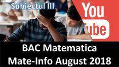 Rezolvarea Subiectului al III-lea Mate-Info Bac Matematica August 2018