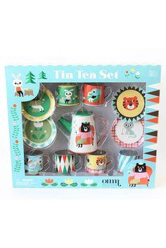 Animal Tin Tea Party Set by Ingela Arrhenius OMM design   The Kid Who