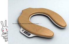 Toilet Seat Scale Tells You How Much Weight Is Lost After You Take A Dump - OhGizmo! Like this.