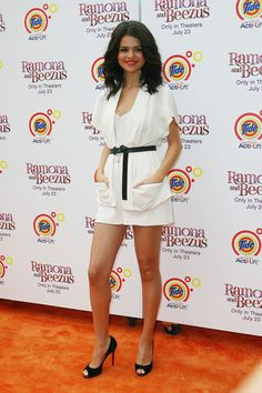 """Selena Gomez at the film premiere of """"Ramona and Beezus"""" at Madison Square Park in NYC. July 20, 2012."""