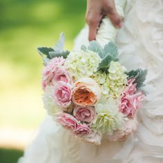 Ashley used mums and roses in pastel shades to create the soft, feminine look of her bouquet. - See more at: http://inblissweddings.com/real-weddings/story/ashley_and_corey/368#sthash.O1TkLq2O.dpuf Image Credit: Gage Blake Photography