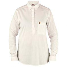 Fjällräven Kiruna Shirt Ls - Blouse Dames   Gratis verzending   Bergfreunde.nl Sustainable Clothing, Cotton Lights, Outdoor Outfit, Chambray, Long Sleeve Shirts, Blouse, Casual, Mens Tops, Clothes