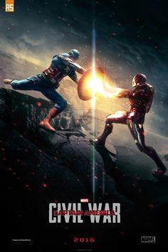 """Фанатский постер фильма """"Первый Мститель: Гражданская Война""""."""