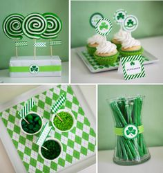 @Anders Ruff Custom Designs has done it again with 14 pages of printable designs perfect for any St. Patrick's Day party, kids event, school treats or a simple decoration fix!    They used argyle, polka dot, diagonal stripes, shamrock patterns...  inspired by Preppy Spring fashion and Irish luck!