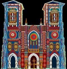 "Video Art Installation by French artist XAVIER DE RICHEMONT at San Fernando Cathedral, San Antonio TX starting 6/13/14 ""San Antonio - The Saga"" 04 SA THE SAGA - XDERICHEMONT.jpg"