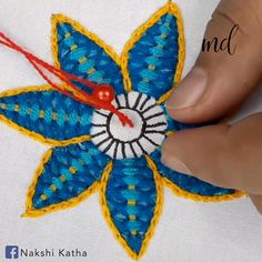 hand embroidery stitches tutorial step by step Hand Embroidery Videos, Hand Embroidery Flowers, Embroidery Stitches Tutorial, Flower Embroidery Designs, Creative Embroidery, Sewing Stitches, Hand Embroidery Patterns, Embroidery Techniques, Ribbon Embroidery