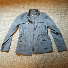 Gray utility jacket Gray utility jacket LOFT Jackets & Coats Utility Jackets