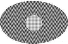 maginea de mai jos este formata din 2 sfere colorate diferit. Iluzia optica apare atunci cand mutam privirea in centrul imaginii, in acel mic cerc de culoare alba, cu linii verticale si orizontale negre. Veti observa ca de cate ori mutati privirea in interiorul acestuia, el va parea ca se misca.