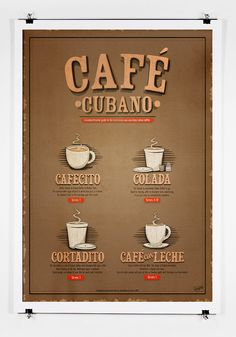 Cafe Cubano Guide Print by twenty21onecreative on Etsy, $25.00
