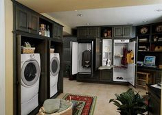 laundry room ideas for design and decoration/cool if you don't have a lot of space to work with