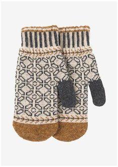 Knitted Mittens Pattern, Fair Isle Knitting Patterns, Crochet Mittens, Knitted Hats, Motif Fair Isle, Silk Bandana, Jamel, Fair Isles, Woven Scarves