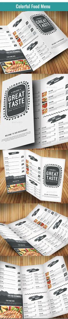 Clean Food Menu Template #design #print Download: http://graphicriver.net/item/clean-food-menu-2/11995580?ref=ksioks