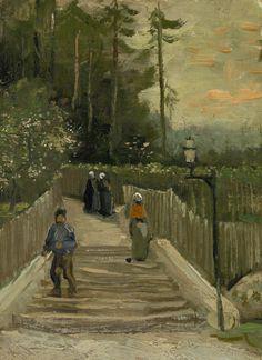 Vincent van Gogh -  Path in Montmartre Paris, April - May 1886,    Van Gogh Museum, Amsterdam (Vincent van Gogh Foundation)