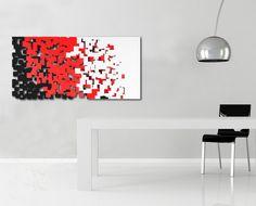 Quadro Astratto - Antracite decoro multicolor