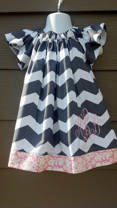 Adorable Flutter Sleeve Chevron Dress Size 6 months - 5. $35.00, via Etsy.